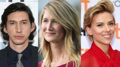 Adam Driver, Laura Dern e Scarlett Johansson no novo  filme de Noah Baumbach