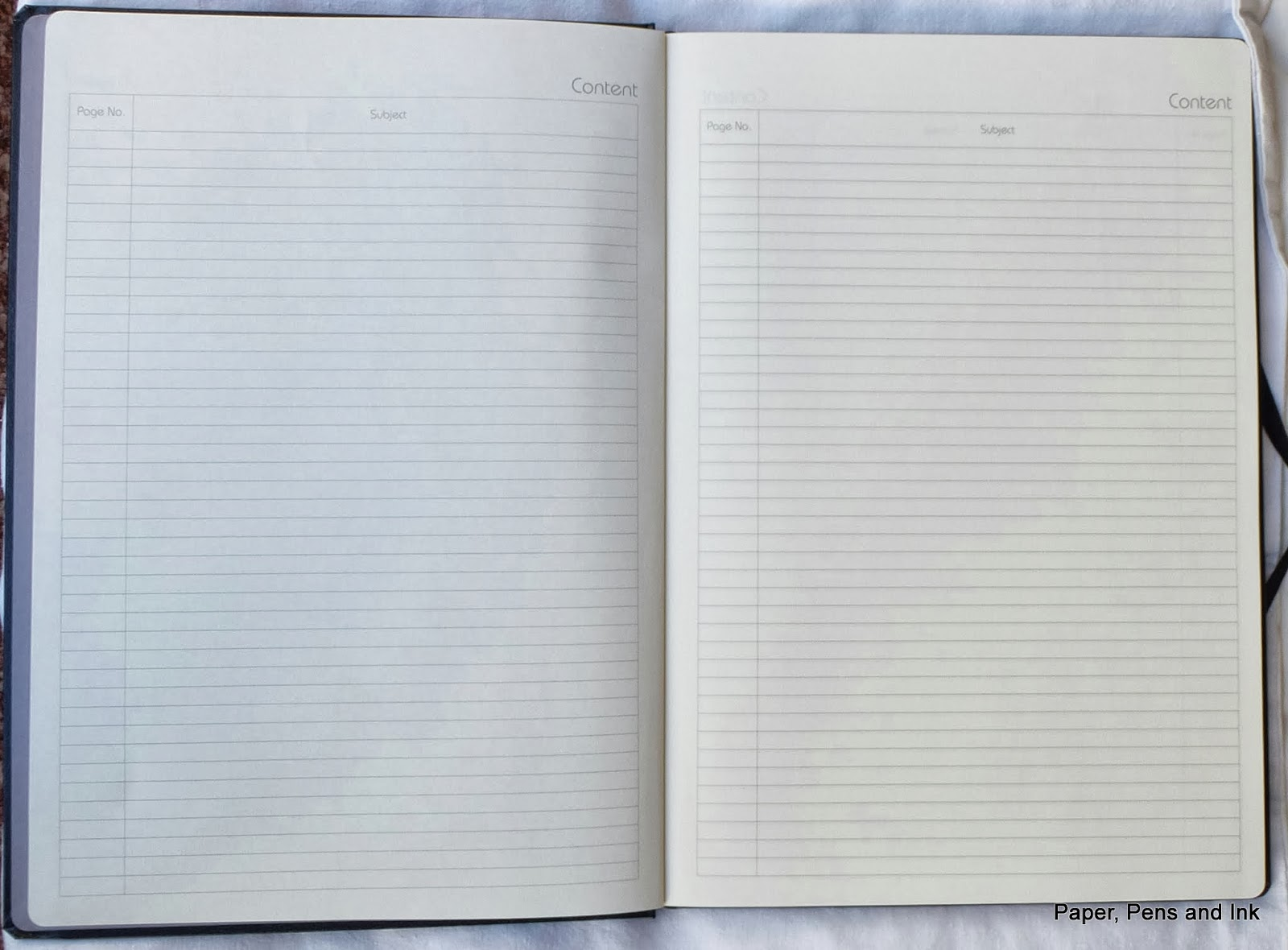 paper pens ink review of grandluxe notebooks 4 monologue there are 6 pages of table of contents in total