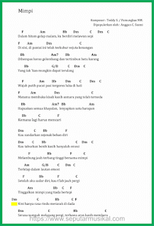 chord lagu mimpi anggun c sasmi