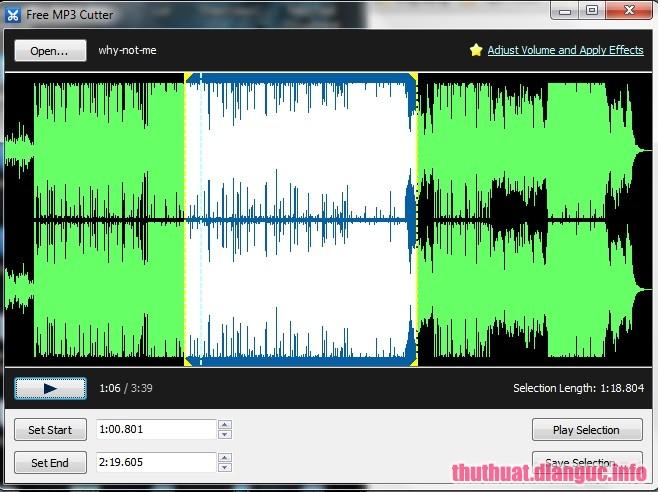 Download Free MP3 Cutter – Phần mềm cắt nhạc MP3 miễn phí