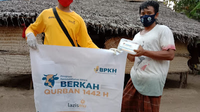 BPKH-Lazizmu NTB Sebar Daging Kurban Hingga ke Daerah Terpencil