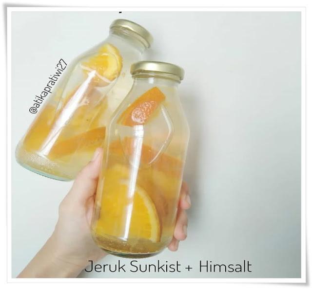Cara membuat infused water jeruk sunkist