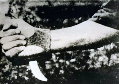 Historia de una imagen: Ustachas cubiertos con la sangre de sus victimas