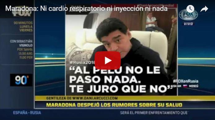 Reaparece Maradona y niega que estuviera drogado o enfermo