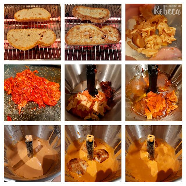 Receta de salsa romesco: emulsión