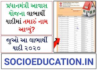 PMAY List 2020 – Pradhan Mantri Awas Yojana List 2020