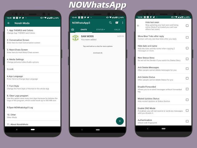 تحميل تطبيق واتساب ضد الحظر NOWhatsApp v9.65 Apk