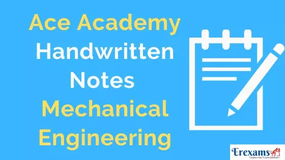 Ace Academy Mechanical Notes for Gate IES PSU Free Pdf Download