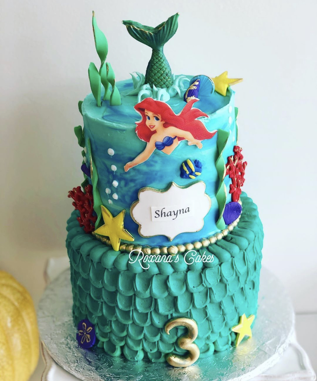 Outstanding Baking With Roxanas Cakes Little Mermaid Ariel Birthday Cake Funny Birthday Cards Online Alyptdamsfinfo