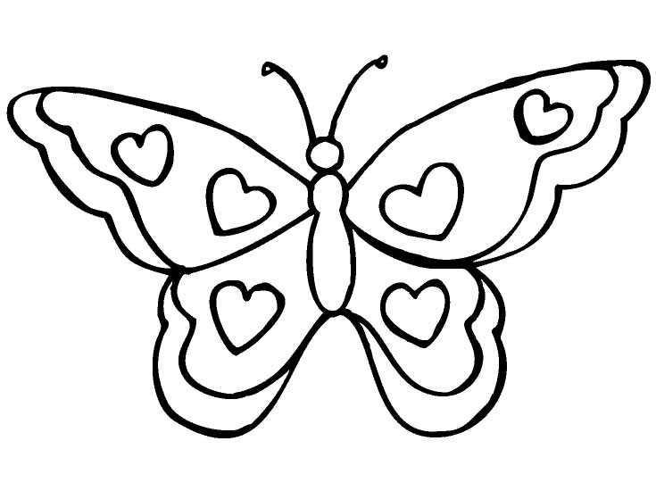 Dibujos Para Colorear Dibujos De Mariposas Para Colorear