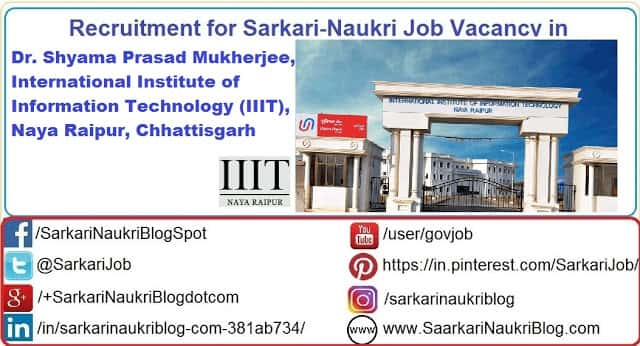 IIIT Raipur Government Jobs