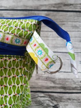 Organizer für die Handtasche in grün-blau