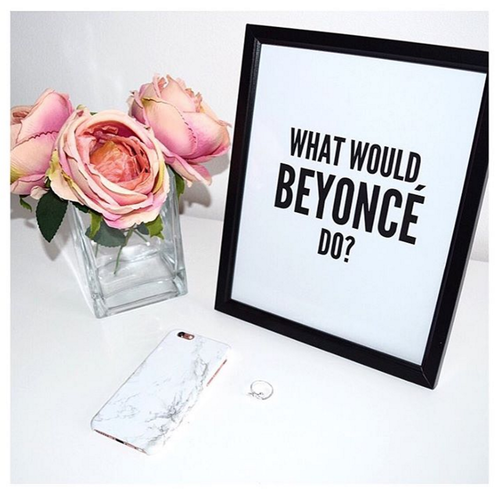 Contour coffee confidence wall art available here for £6 without a frame or £14 50 with 2 what would beyonce do wall art available here for £6