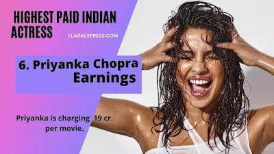 priyanka Chopra Earnings Per Months
