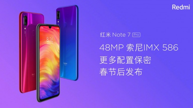 Redmi Note 7 Pro to Sport Snapdragon 675, 48MP Sony Sensor