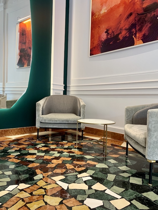 lobby detail Hotel Sofitel Villa Borghese Rome-Gillian Longworth McGuire