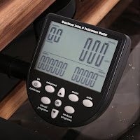 WaterRower S4 Performance Monitor, image, with 6 information & programming windows, 6 Quick Selection buttons, 3 Navigation buttons
