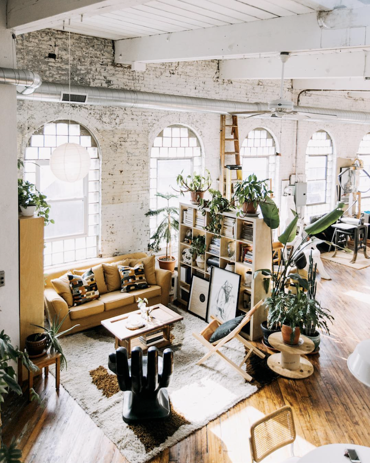 A Fabulous Vintage Inspired Loft in a Former Textile Factory