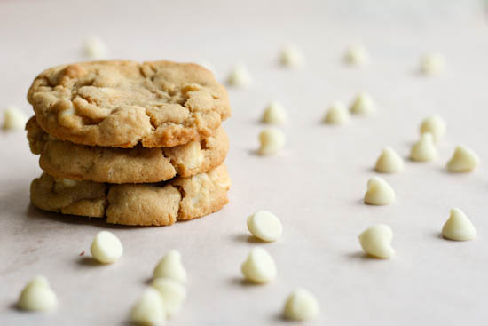 cashew nut and white chocolate chip cookies