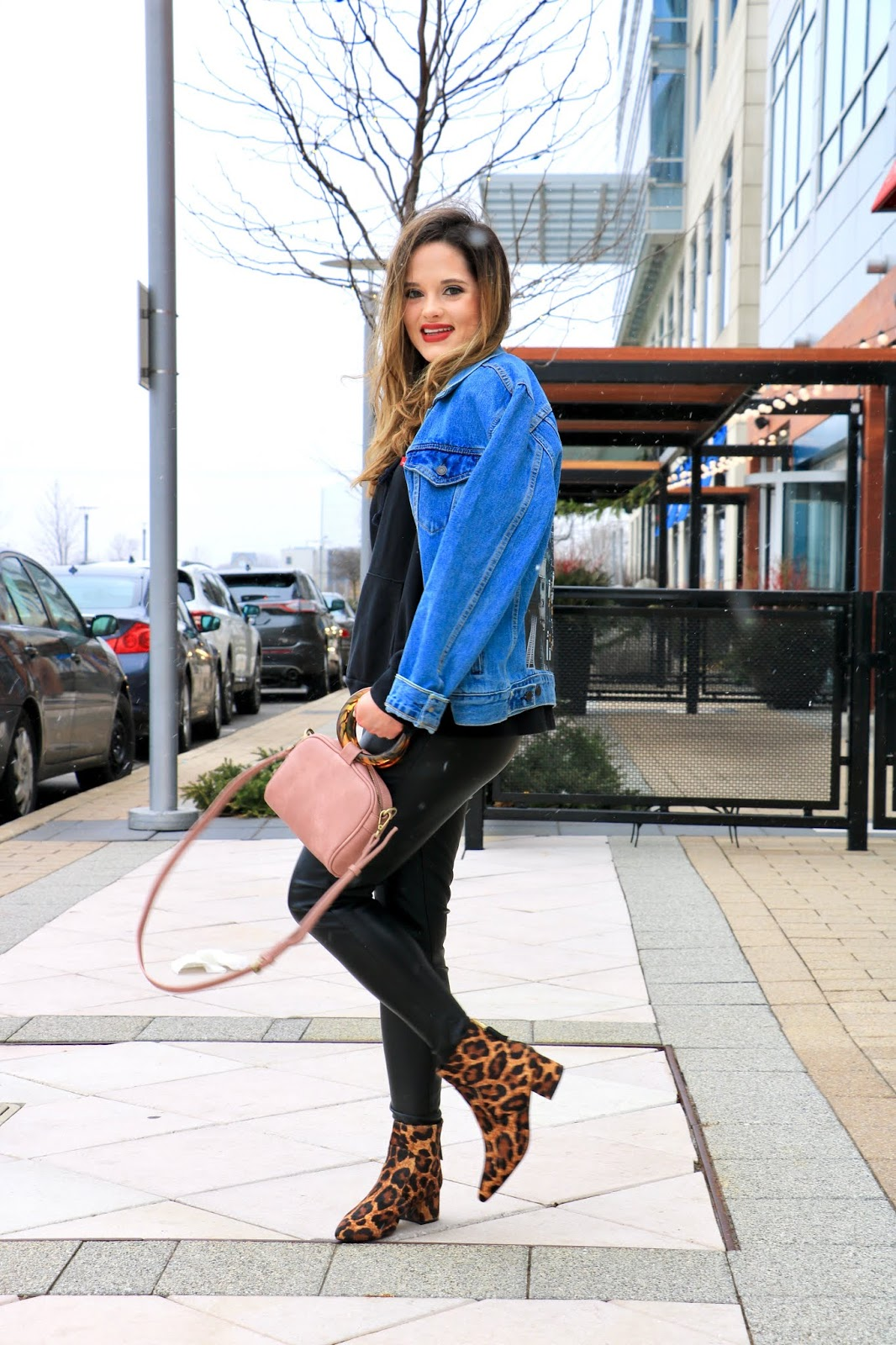 Nyc fashion blogger Kathleen Harper's leopard boots outfit