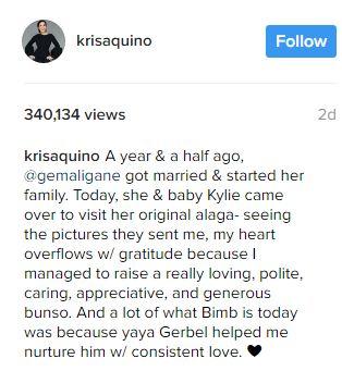 Kris Aquino's son Bimby reunites with Yaya Gerbel and daughter