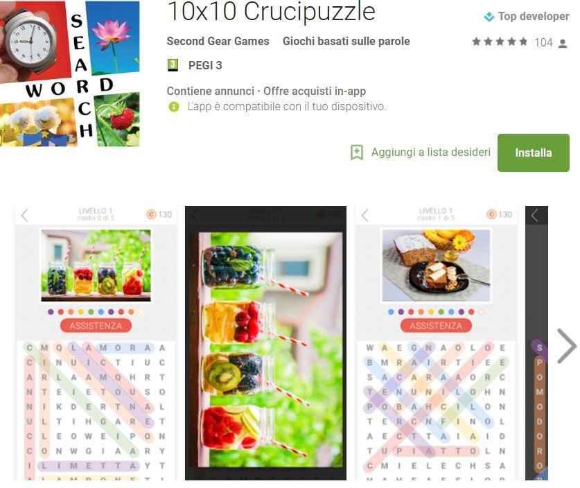 Soluzioni 10x10 Crucipuzzle