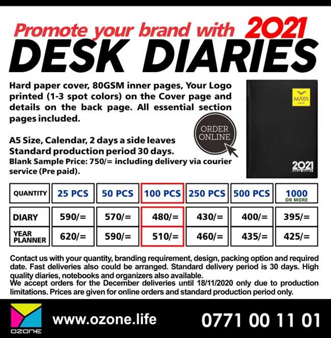 Promote your brand with Desk Diaries.