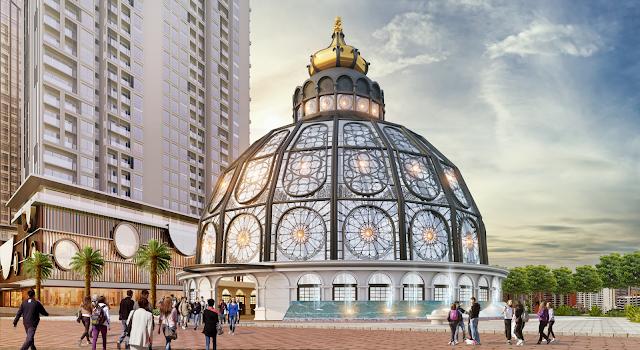 Quảng trường của dự án 201 Minh Khai
