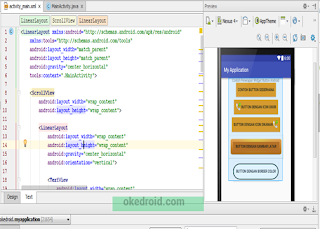 Preview Custom Widget Button Android Studio