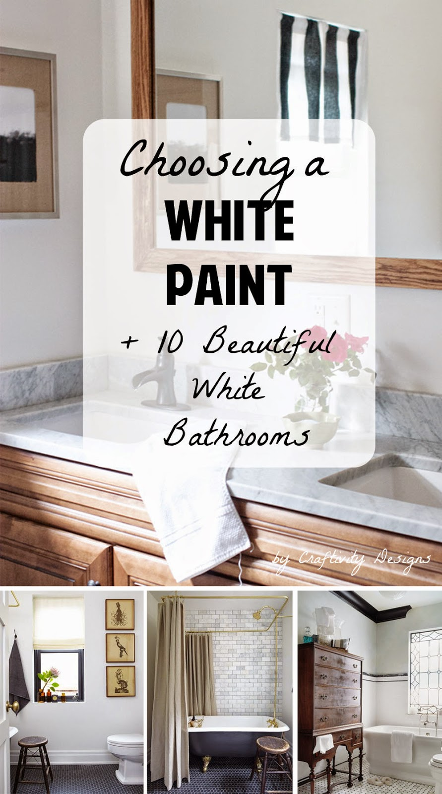 Painting a Room White // 10 Beautiful White Bathrooms – Craftivity ...