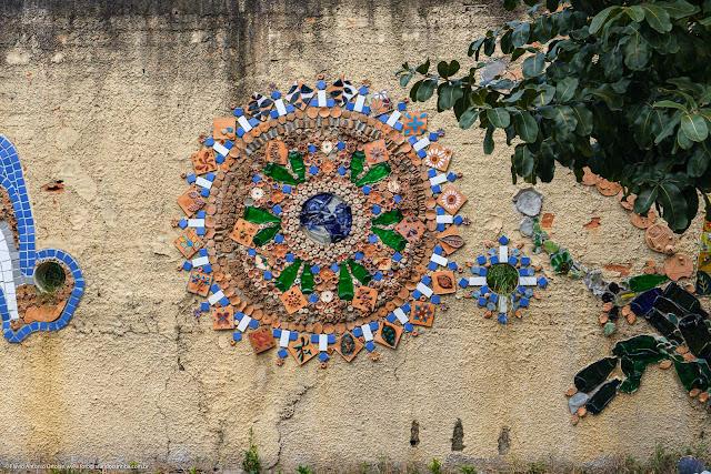 Mosaico muro da Escola Estadual República Oriental do Uruguai