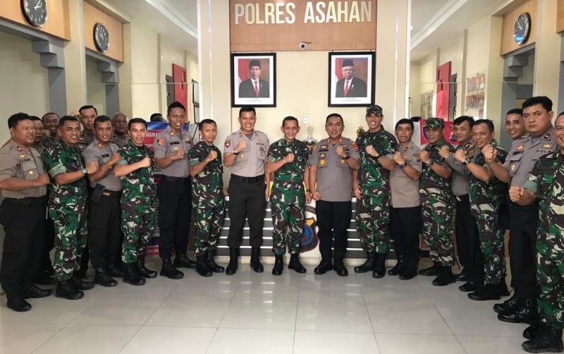 Kunjungan Kerja di Kabupaten Asahan, Pangdam I/BB Silaturahmi ke Mapolres Asahan