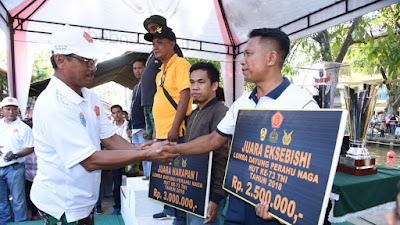 Dragon Boat Lantamal XII Juara I, Peringati HUT TNI KE-73/2018 Di Sungai Jawi Pontianak