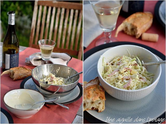 Salade de chou aux lardons et comté