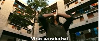 Virus aa raha hai | 3 idiots meme templates