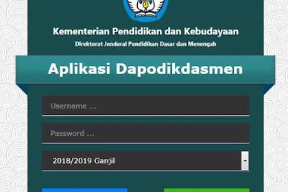 Pemutakhiran Dapodik Semester 2 Tahun Pelajaran 2018/2019