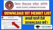 OFSS Bihar (11th) 1st Merit List 2020, Download Merit List From Ofssbihar.in