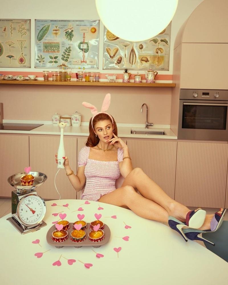 Cintia Dicker poses for Vanity Fair Italy