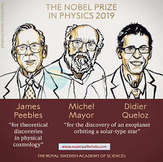 The Nobel Prize in Physics 2019 - James Peebles, Michel Mayor and Didier Queloz