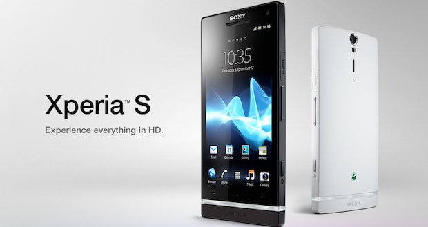 Sony Xperia S Specifications - LAUNCH Announced 2012, January DISPLAY Type LED-backlit LCD, capacitive touchscreen, 16M colors Size 4.3 inches (~62.2% screen-to-body ratio) Resolution 720 x 1280 pixels (~342 ppi pixel density) Multitouch Yes, up to 10 fingers Protection Scratch-resistant glass BODY Dimensions 128 x 64 x 10.6 mm (5.04 x 2.52 x 0.42 in) Weight 144 g (5.08 oz) SIM Micro-SIM PLATFORM OS Android OS, v2.3 (Gingerbread), upgradable to v4.1.2 (Jelly Bean) CPU Dual-core 1.5 GHz Scorpion Chipset Qualcomm MSM8260 Snapdragon S3 GPU Adreno 220 MEMORY Card slot No Internal 32 GB, 1 GB RAM CAMERA Primary 12 MP, autofocus, LED flash Secondary 1.3 MP, 720p@30fps Features Geo-tagging, touch focus, face/smile detection, panorama Video 1080p@30fps NETWORK Technology GSM / HSPA 2G bands GSM 850 / 900 / 1800 / 1900 3G bands HSDPA 850 / 900 / 1900 / 2100 - LT26i Speed HSPA 14.4/5.76 Mbps GPRS Yes EDGE Yes COMMS WLAN Wi-Fi 802.11 b/g/n, DLNA, hotspot NFC Yes GPS Yes, with A-GPS, GLONASS USB microUSB v2.0, USB Host Radio Stereo FM radio with RDS Bluetooth v2.1, A2DP, EDR FEATURES Sensors Sensors Accelerometer, gyro, proximity, compass Messaging SMS (threaded view), MMS, Email, IM, Push Email Browser HTML5, Adobe Flash Java Yes, via Java MIDP emulator SOUND Alert types Vibration; MP3, WAV ringtones Loudspeaker Yes 3.5mm jack Yes BATTERY  Non-removable Li-Ion 1750 mAh battery Stand-by Stand-by Up to 450 h (2G) / Up to 420 h (3G) Talk time Up to 7 h 30 min (2G) / Up to 8 h 30 min (3G) Music play Up to 25 h MISC Colors White, Black, Silver SAR US 1.30 W/kg (head)    - Sony Mobile BRAVIA Engine - Timescape UI - ANT+ support - TV launcher - HDMI port - Active noise cancellation with dedicated mic - MP4/H.264/WMV player - MP3/eAAC+/WMA/WAV player - TrackID music recognition - Document viewer - Voice memo/dial/commands - Predictive text input