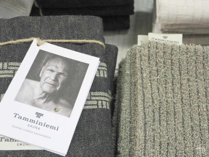 Finlaysonin Tamminiemi -saunatekstiileitä Rakenna ja Sisusta -messuilla