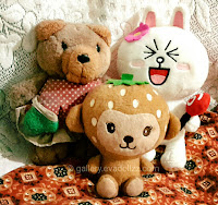 Animal and cartoon stuffed, bear, cony line, mongkey