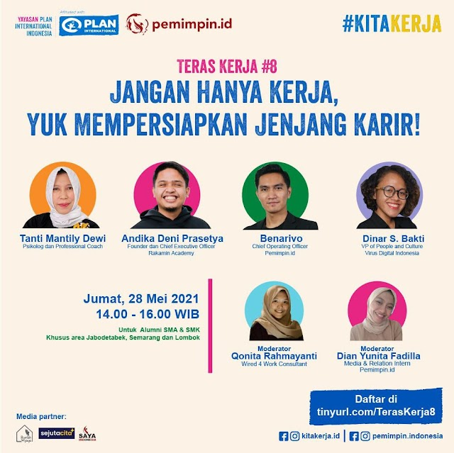 """This virtual event with the topic """"Don't Just Work, Let's Prepare for a Career"""""""