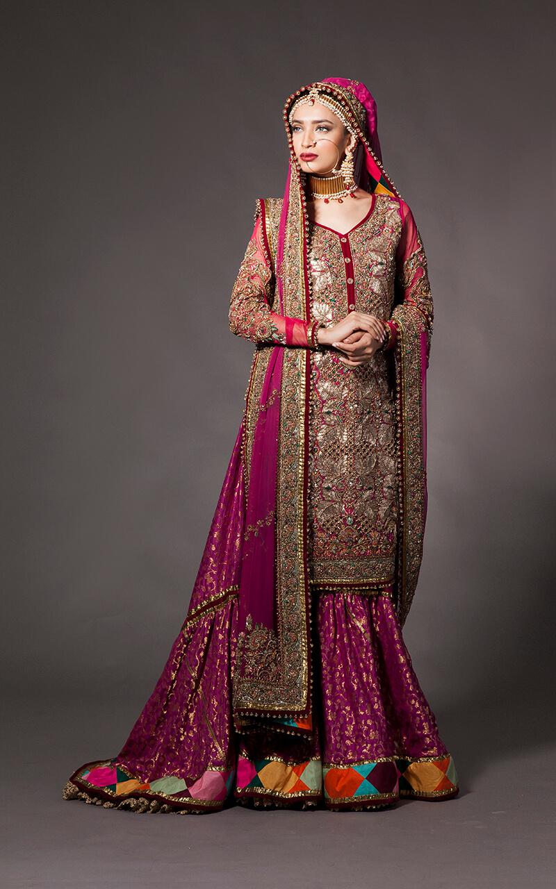 Fahad Hussayn Mehndi Bridal Dress