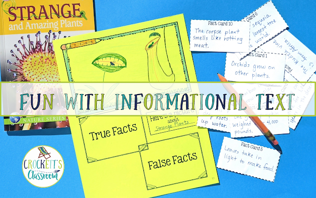 Students love Informational Text.  This true and false facts activities is a fun way for students to explore informational text.