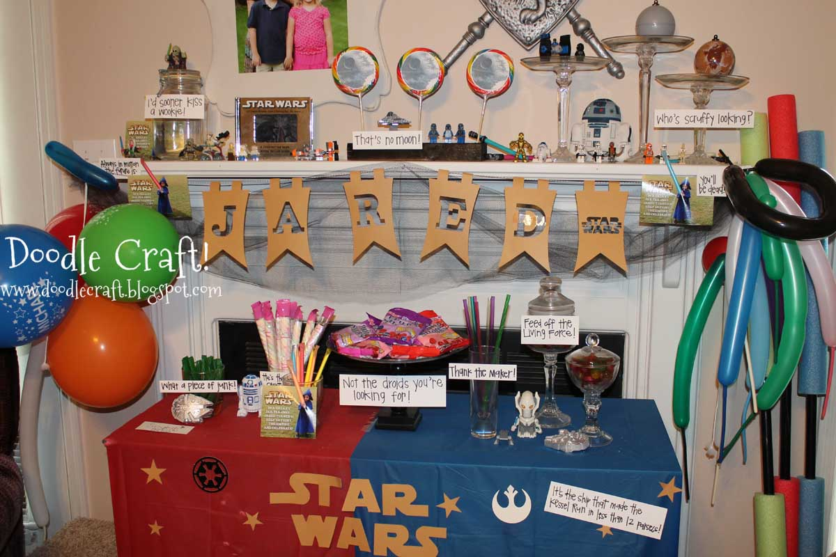 Star Wars Decorations Ideas Doodlecraft Star Wars Birthday Party