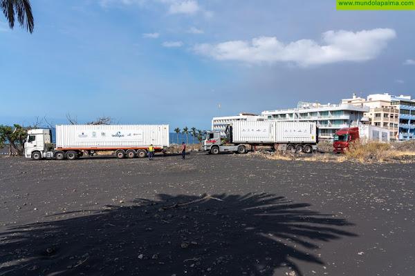 Las desaladoras portátiles llegan sin contratiempo a Puerto Naos