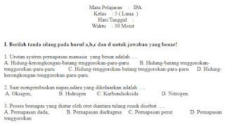Soal-Ulangan-Ujian-ilmu-pengetahuan-alam-kelas-5-Semester-1-UAS-IPA-kelas-5-SD
