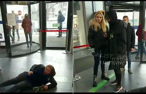 У львівському ТРЦ дівчина побила циганку? (ВІДЕО)