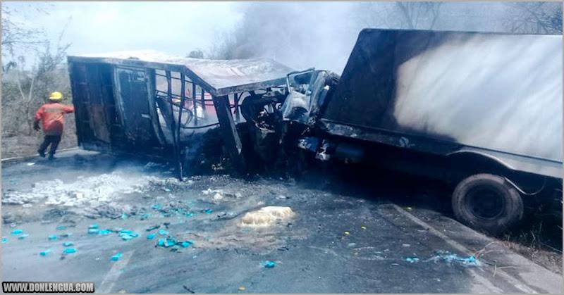 6 personas murieron quemadas en un choque terrible en Cariaco estado Sucre